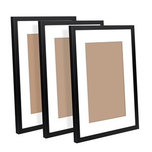 3 Piece Photo Frames Set - Black
