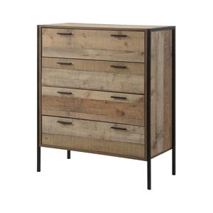 Tallboy 4 Storage Drawers Natural Wood L