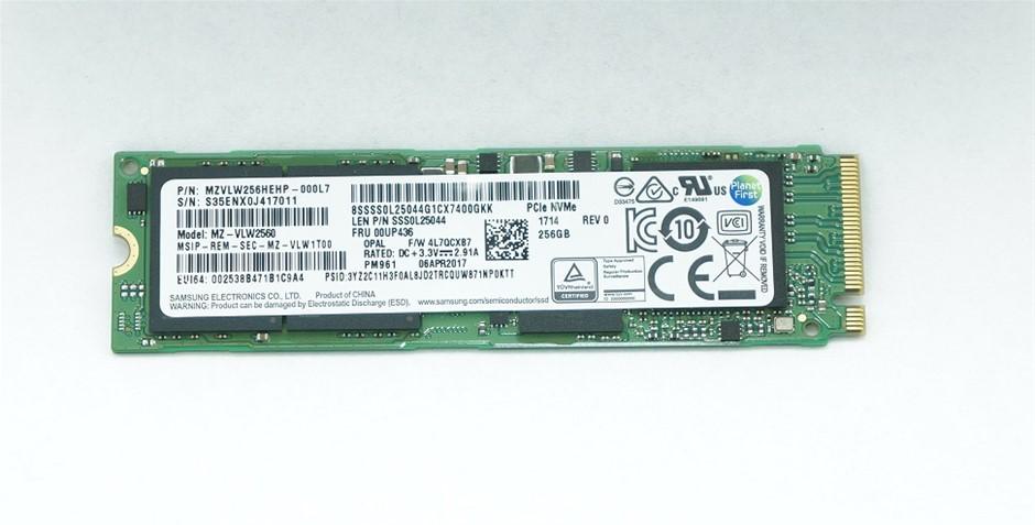 Samsung PCIe NVMe M.2 2280 256GB SSD Part Number: MZVLW256HEHP-000L7