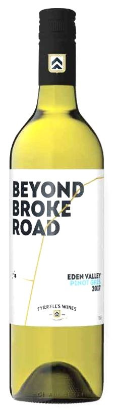 Tyrrell's `Beyond Broke Road` Pinot Gris 2018 (6 x 750mL) Eden Valley, SA