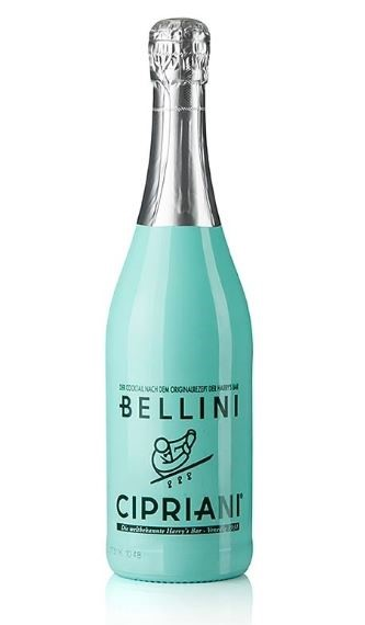 Bellini Cipriani Harrys Bar Cocktail (6 x 750mL) Venice. Italy