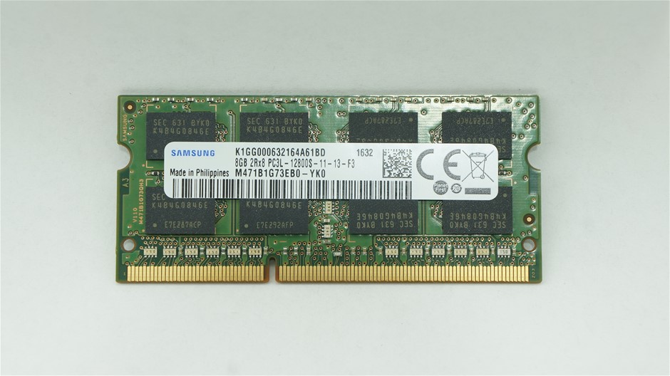 Samsung 8GB PC3L-12800 SO-DIMM Double-Sided 16-Chip Memory Module