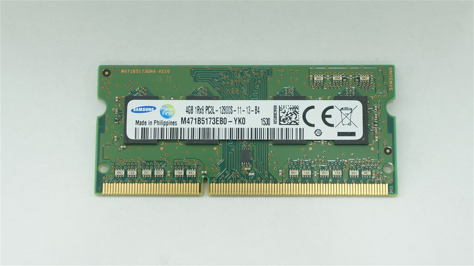 Samsung 4GB PC3L-12800 SO-DIMM Double-Sided 8-Chip Memory Module