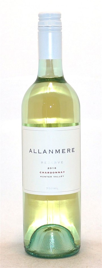Allanmere Reserve Chardonnay 2016 (12 x 750mL),Hunter Valley, NSW.