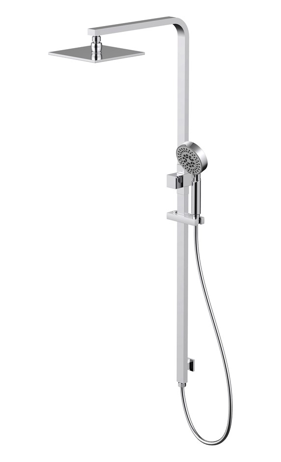 Monsoon Showers Shower System with XL Square Shower Head