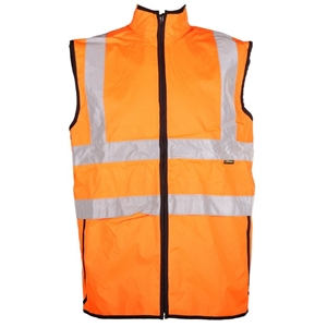 Visitec Hi Vis Reversible Vest Size L Orange Navy Buyers Note