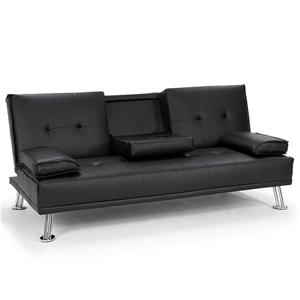 Rochester Faux Leather Sofa Bed Lounge -