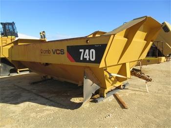 2x Caterpillar 740 Dump Truck Tubs