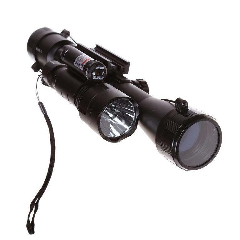 Rifle Scope 3-9 x 40mm c/w Red Dot Laser & Flash Light 500 Lumens. Buyers N