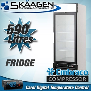 Unused Single Glass Door Display Fridge
