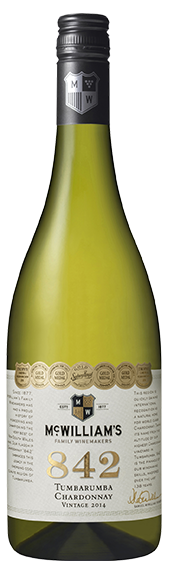 McWilliam's `Flagship 842` Chardonnay 2014 (6 x 750mL), Tumbarumba, NSW.