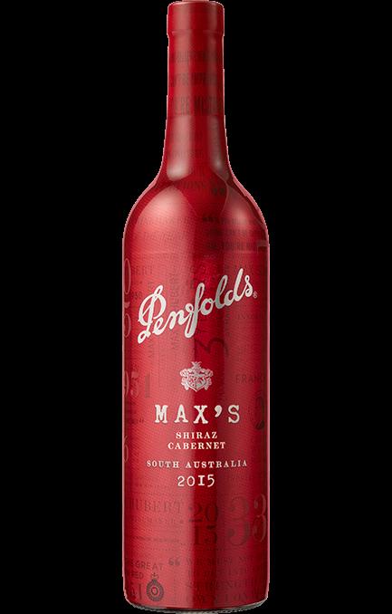 Penfolds Max's Shiraz Cabernet 2015 (6 x 750mL), SA.