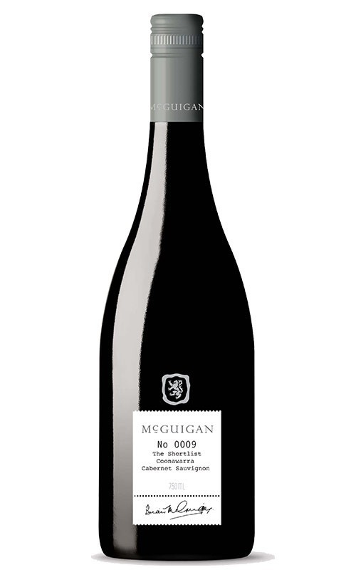 McGuigan `The Shortlist` Cabernet Sauvignon 2016 (6 x 750mL), Coonawarra.