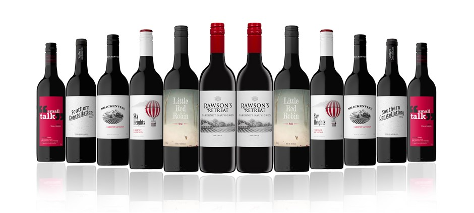 Australian Red Mixed Carton Featuring Rawsons Retreat Cabernet Sauvignon