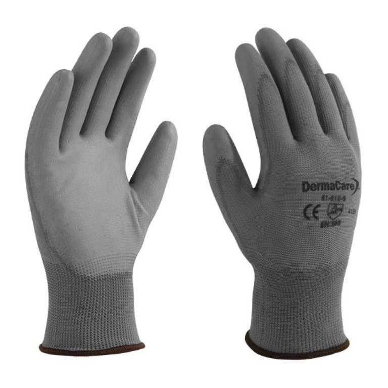 24 x DERMA CARE Multi-Purpose Light Weight Gloves Size M, Machine Knit Nylo