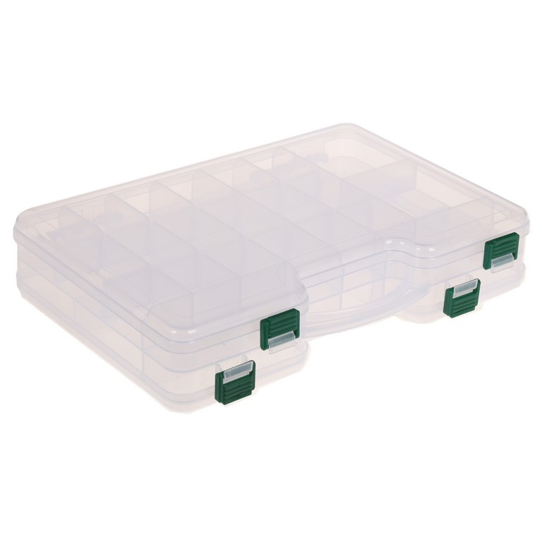 Double Sided Clear Plastic Tackle Box 290x190x60mm. Buyers Note - Discount