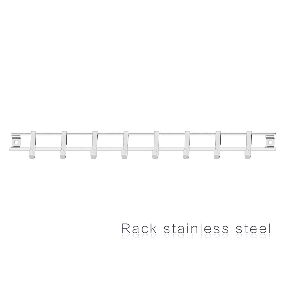 Exquisite Kitchen Cooking Utensils s/steel 40cm Haning Rack Hold Organiser