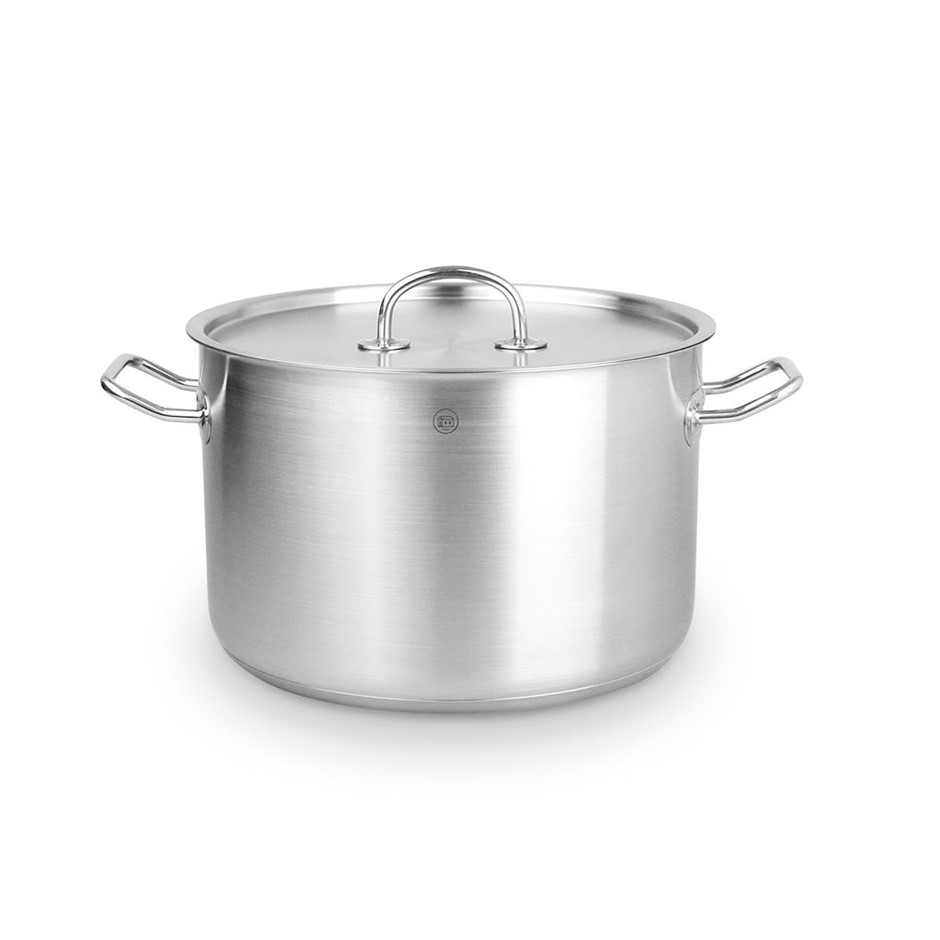Pro-X 24cm SS Casserole Stock Pot Lid 5L Induction Oven Safe Heavy