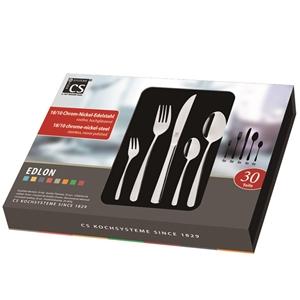Edlon 30pcs Stainless Cutlery Set Chrome