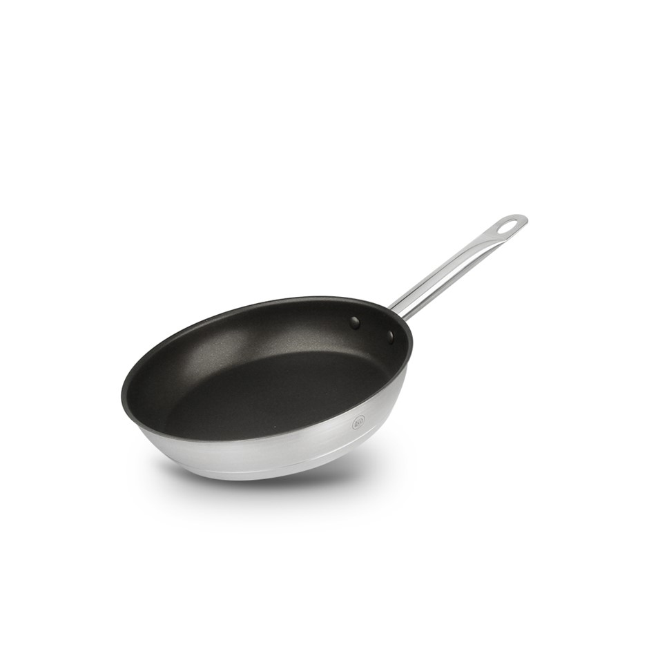 Pro-X 20cm Non-Stick SS Frypan Frying Pan Skillet Dishwasher Oven