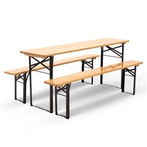 Artiss Wooden Outdoor Foldable Bench Set