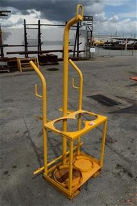(Bid Price Per Each) Steel Framed Oxy / Acetylene Cylinder Lifting Racks