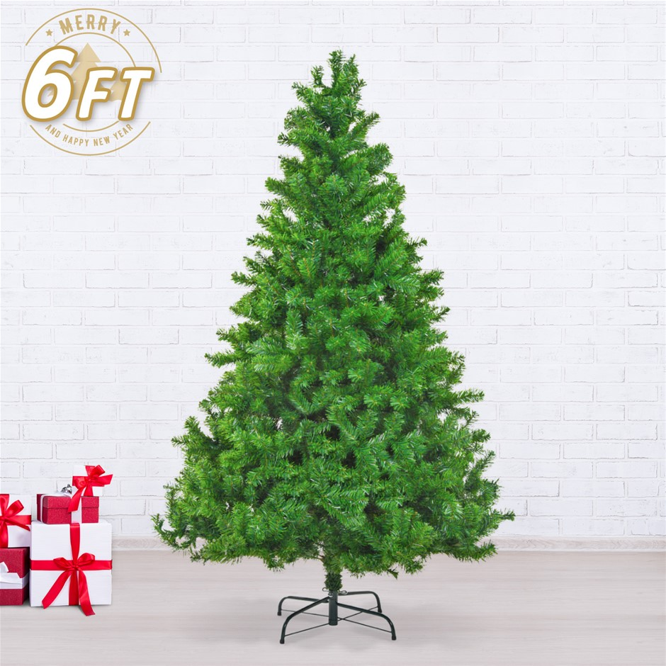 6ft 180cm green xmas tree
