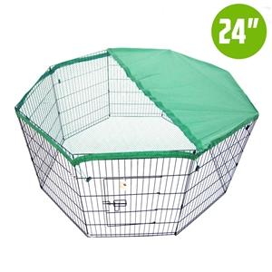"8 Panel Foldable Pet Playpen 24"" w/ Cove"