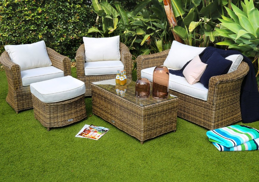 Excalibur Outdoor Living Mirage Round 5 Piece Sofa Set