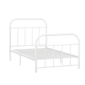 Artiss Metal Single Bed Frame - White