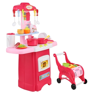 Keezi Kids Kitchen and Trolley Playset -