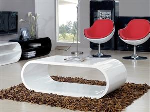 White High Gloss Designer Coffee Table