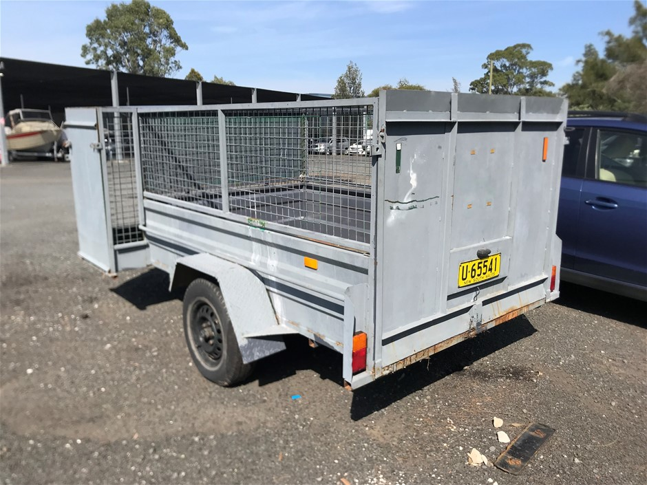 2008 Great Wester 8x5 Single Axel Service BoxTrailer