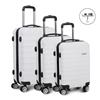 Wanderlite 3 Piece Lightweight Hard Suit Case - White