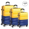 Wanderlite 3 Piece Luggage Trolley Set - Yellow and Purple