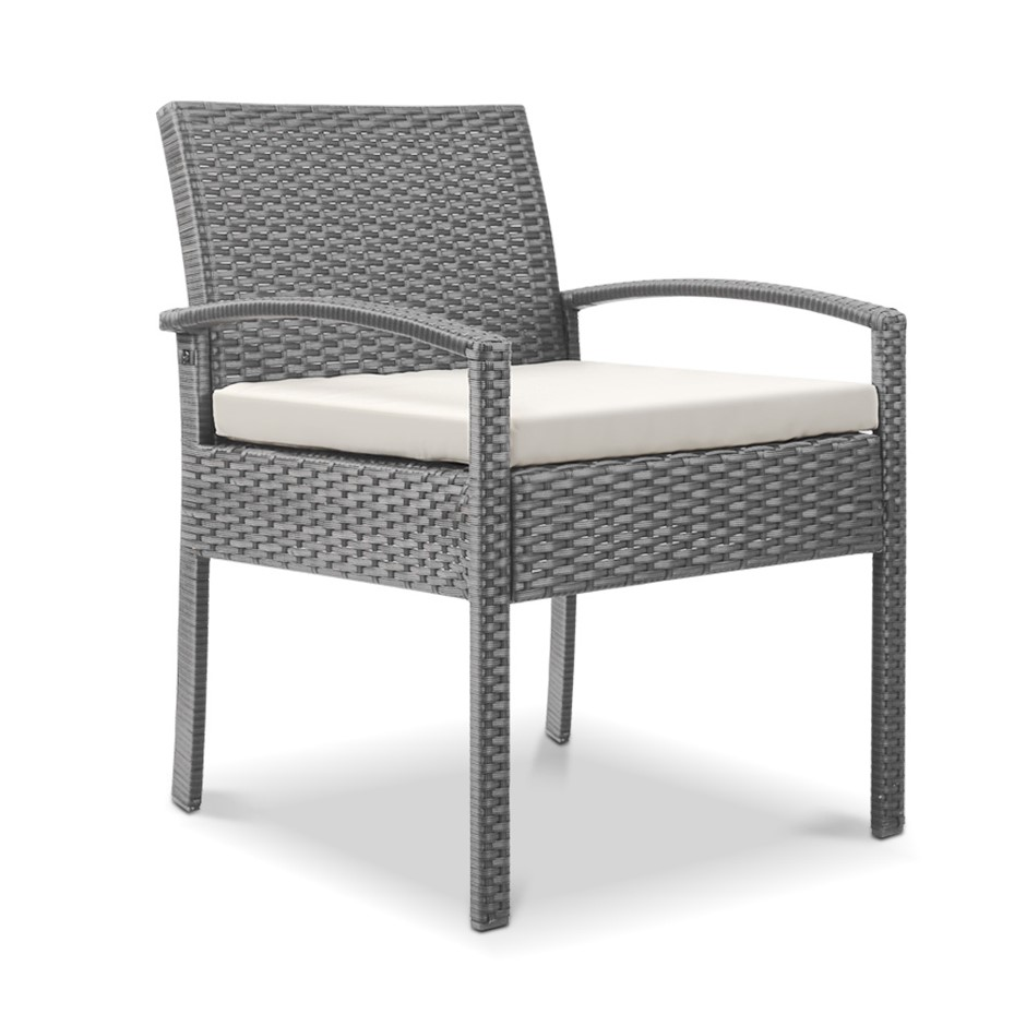 Gardeon Outdoor Rattan Chair - Grey