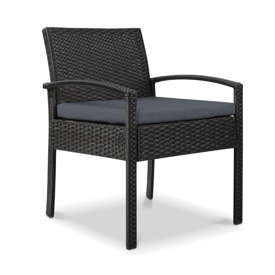 Gardeon Outdoor Rattan Chair - Black