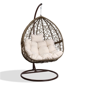 Gardeon Outdoor Hanging Swing Chair - Br