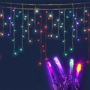 wholesale dealer 5e343 50edf Jingle Jollys 500 Solar Powered Icicle Lights - Multi Colour