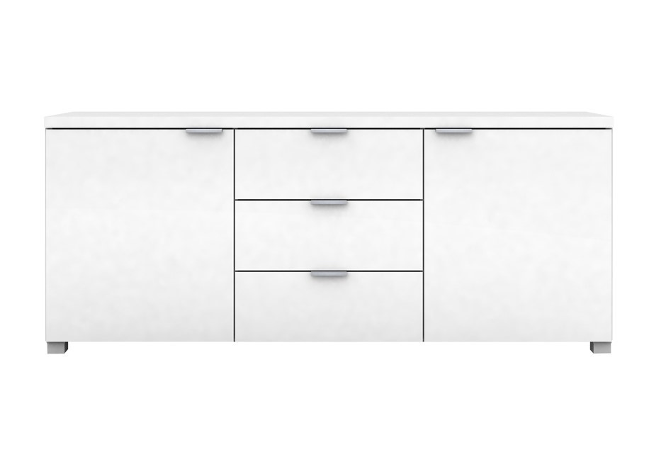 Kyana High Gloss 2 Door 3 Drawer Buffet Unit - White