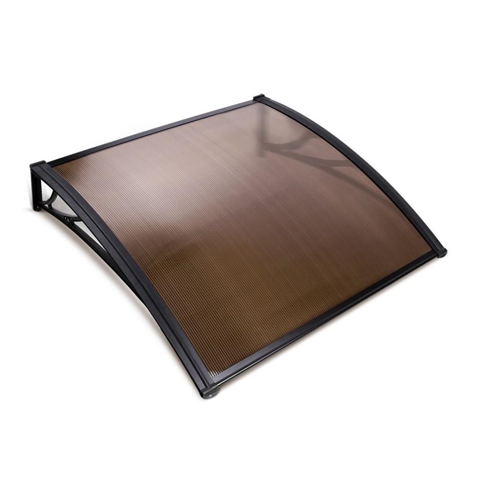 Instahut DIY Window Door Awning Transparent 1 x 1M