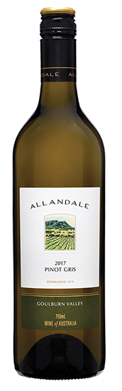 Allandale Pinot Gris 2018 (12 x 750mL), VIC.