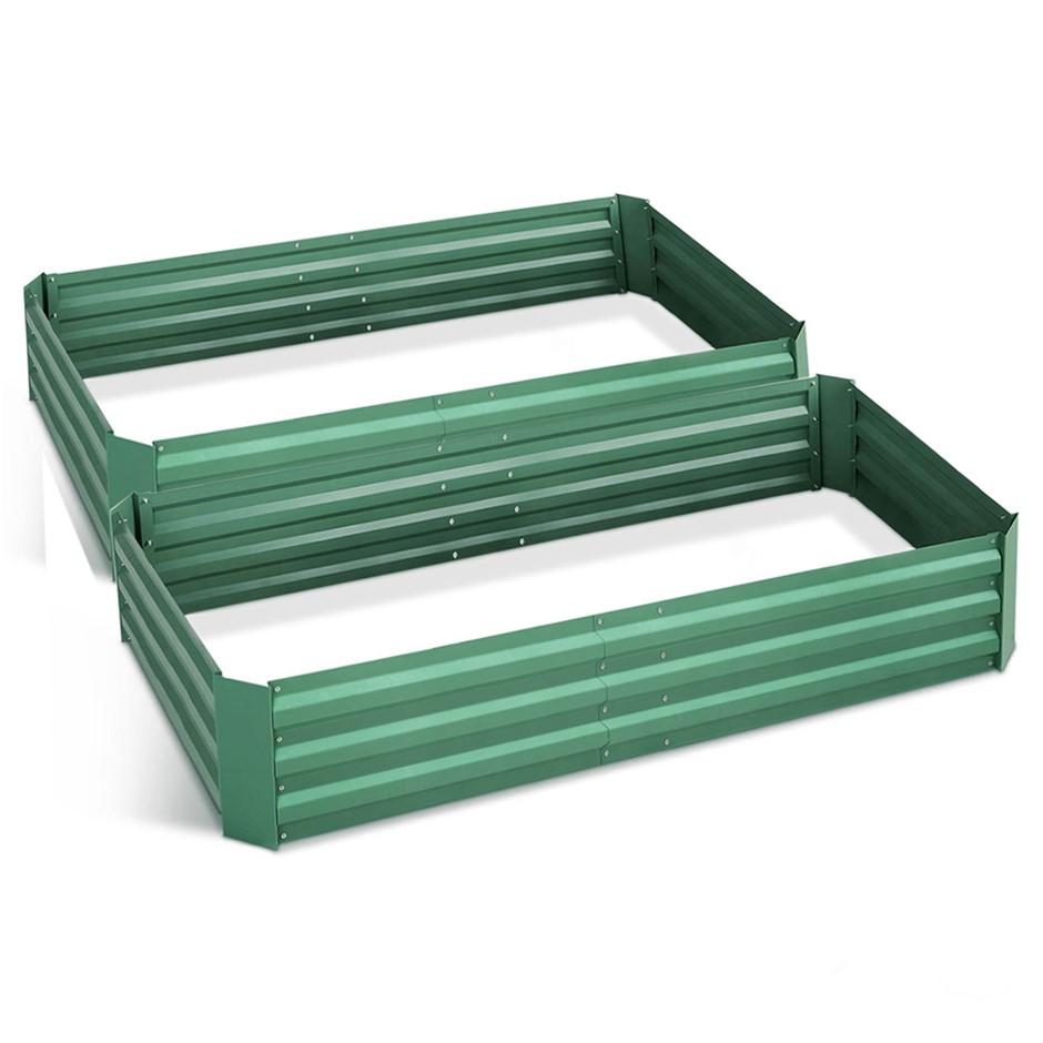 Green Fingers 210cm x 90cm Raised Garden Bed - Green