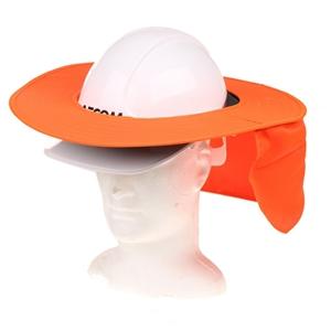 10 x MSA Brim Caps with Neck Flap, Fluor