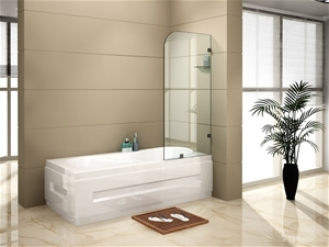 700 x 1450mm Frameless Bath Panel 10mm G