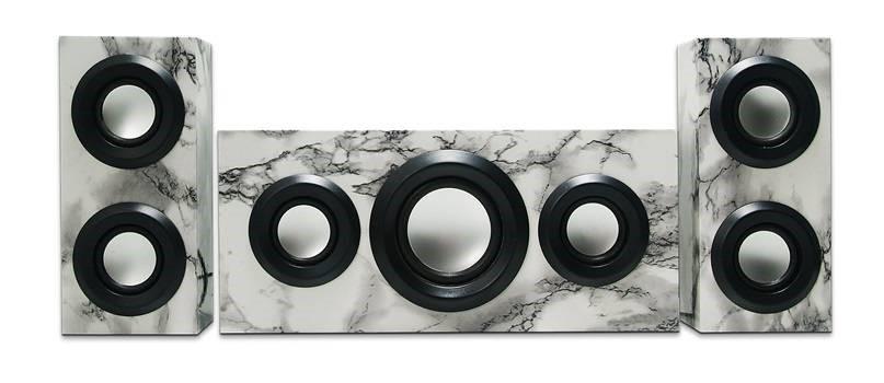 RSON Wireless Bluetooth 3-Piece Sound System (Marble)