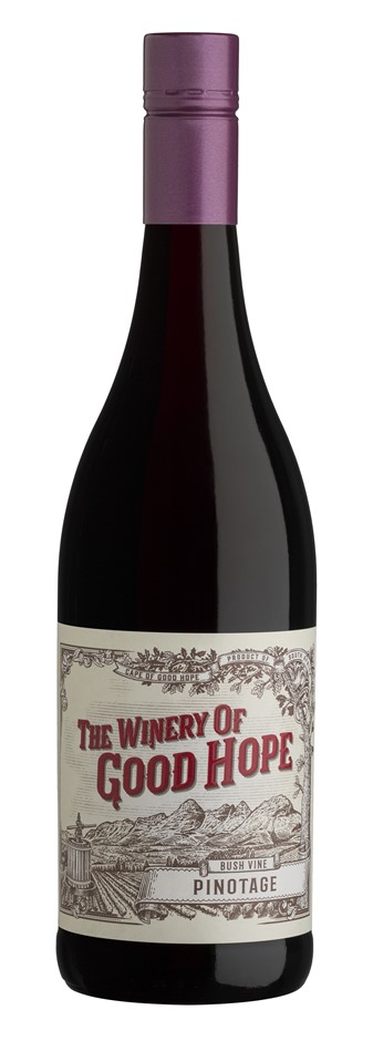The Winery of Good Hope `Bush Vine` Pinotage 2018 (12 x 750mL), STH Africa.