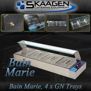 Unused 4 x 1/2 Tray Stainless Steel Bain