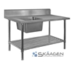 Unused Single Left 2200 x 600 Stainless Steel Sink FSA-1-2200L
