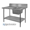 Unused Single Right 2200 x 600 Stainless Steel Sink FSA-1-2200R